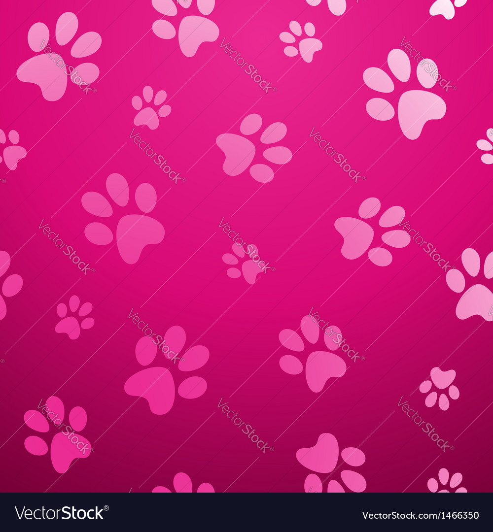 Seamless paw pet background vector | Price: 1 Credit (USD $1)