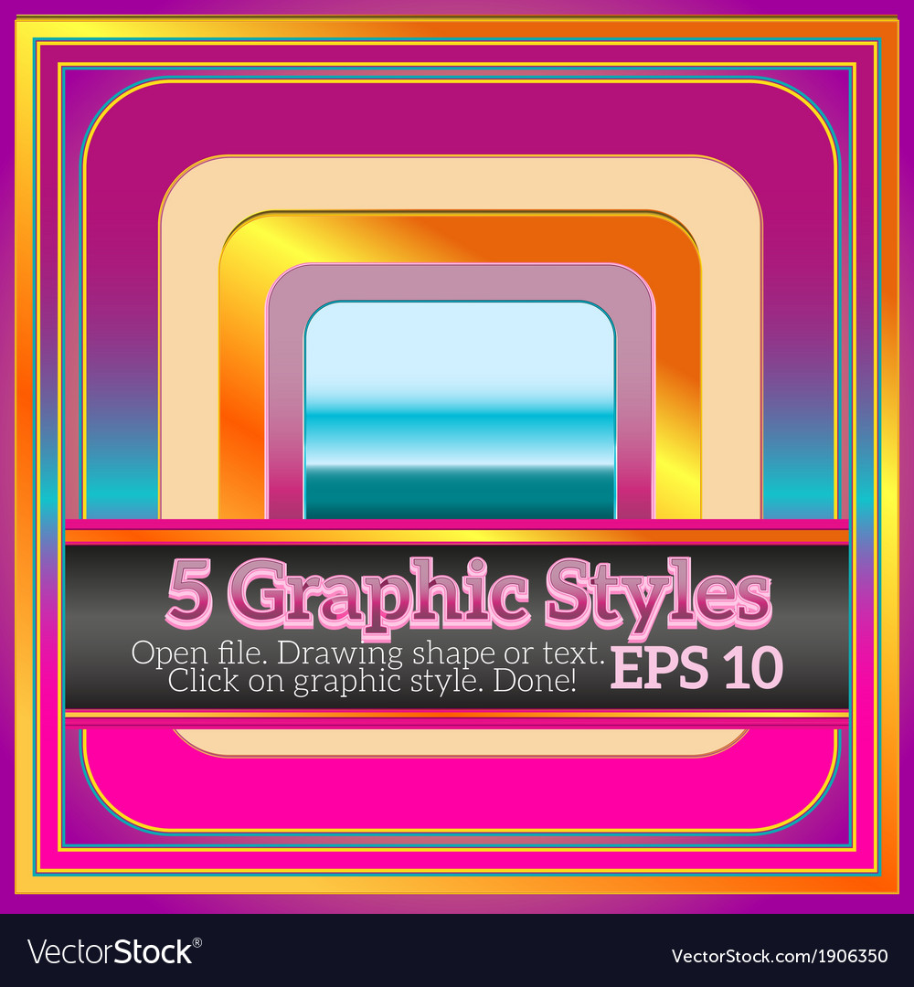 Set of beautiful colorful graphic styles for vector | Price: 1 Credit (USD $1)