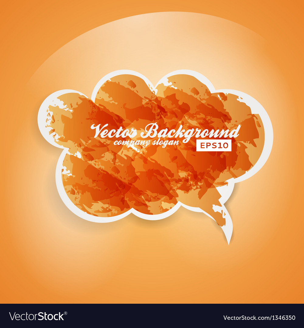 Watercolor speech bubble background vector | Price: 1 Credit (USD $1)
