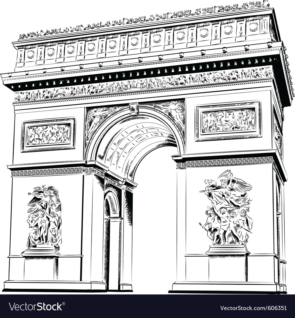 Arch of triumph isolated on the white vector | Price: 1 Credit (USD $1)