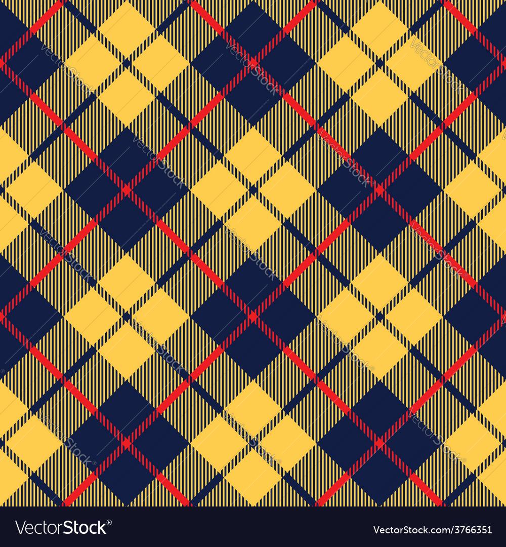 Blue orange tartan fabric texture diagonal little vector | Price: 1 Credit (USD $1)