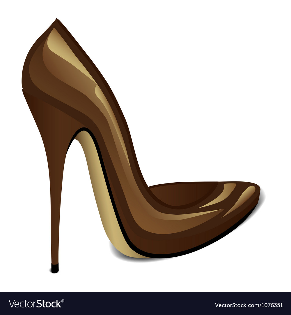Brown high heel vector | Price: 1 Credit (USD $1)