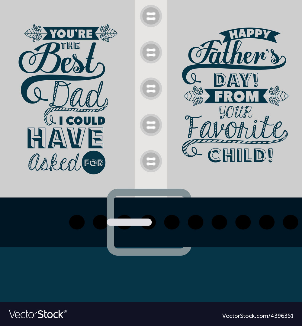Fathers day design vector | Price: 1 Credit (USD $1)