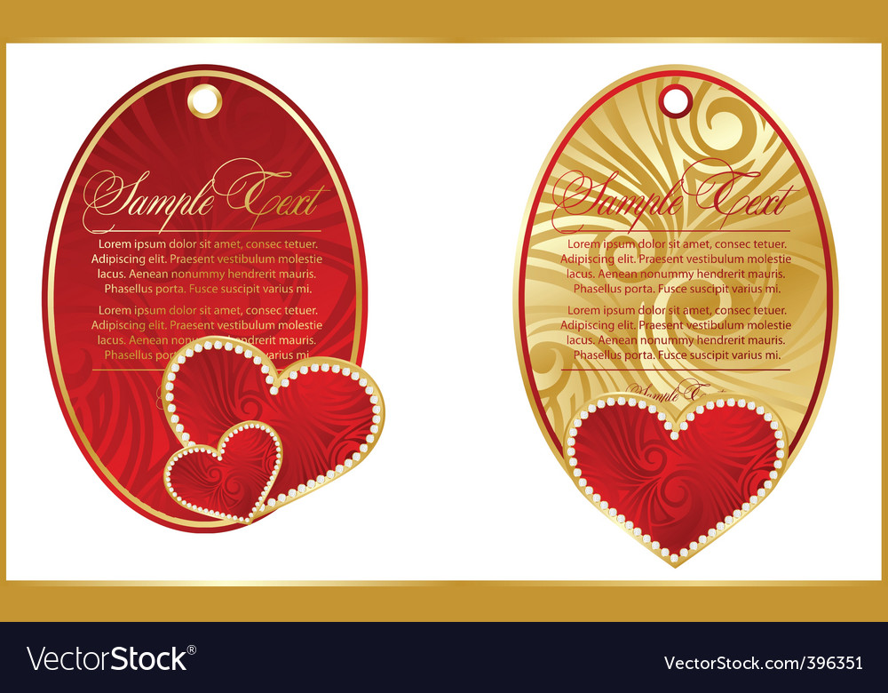 Gold hearts banner vector | Price: 1 Credit (USD $1)