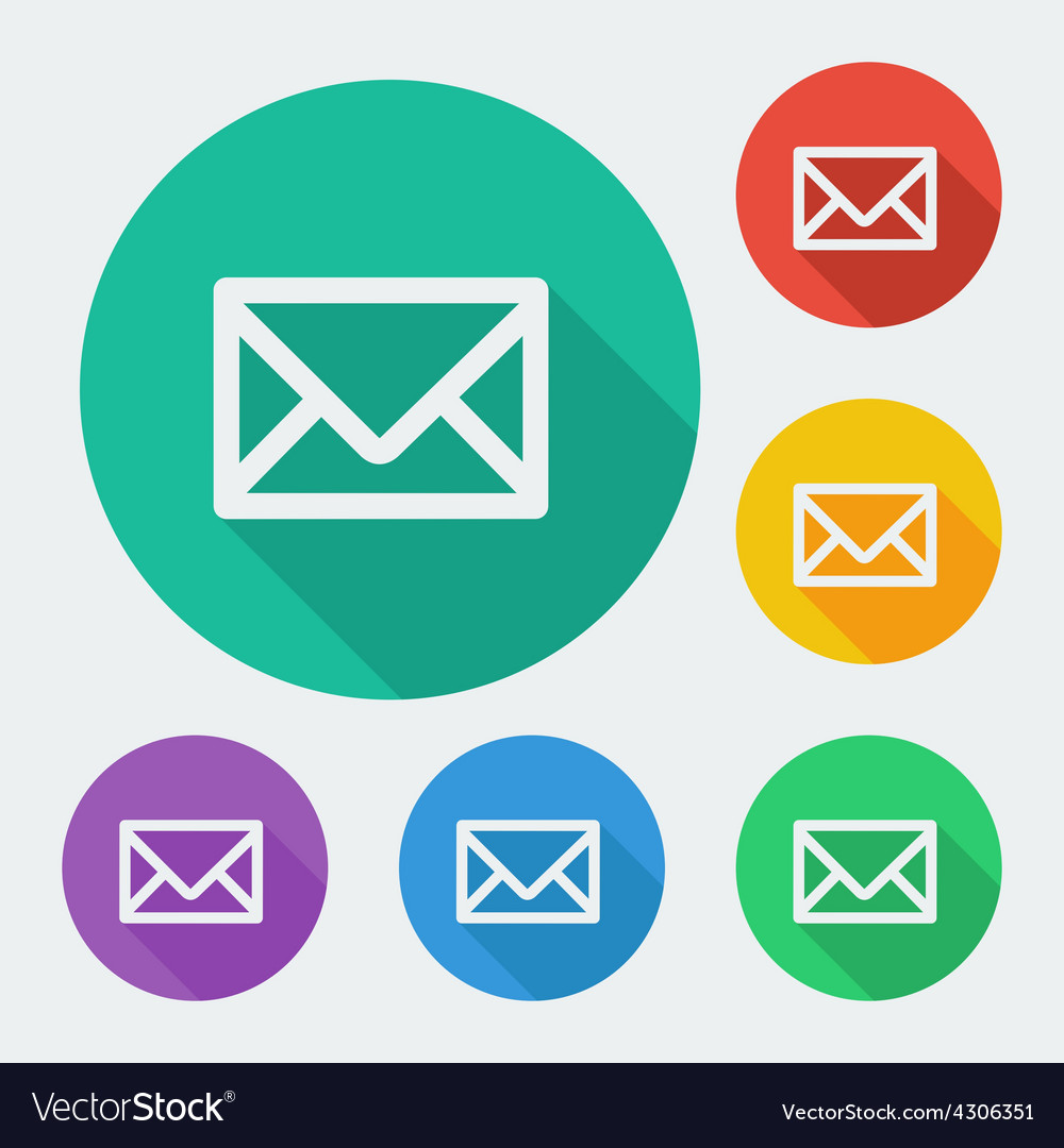 Mail icon simple envelope flat design vector | Price: 1 Credit (USD $1)