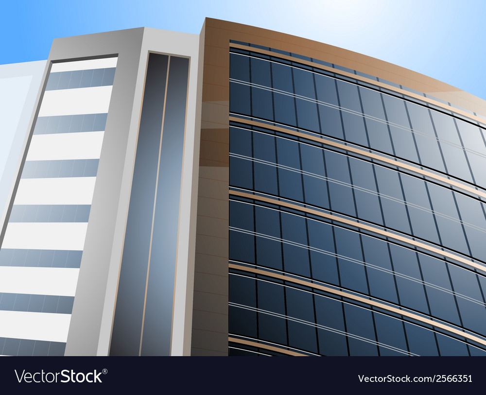 Modern building scene vector | Price: 1 Credit (USD $1)