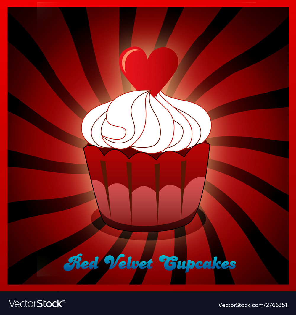 Red velvet cupcake vector | Price: 1 Credit (USD $1)