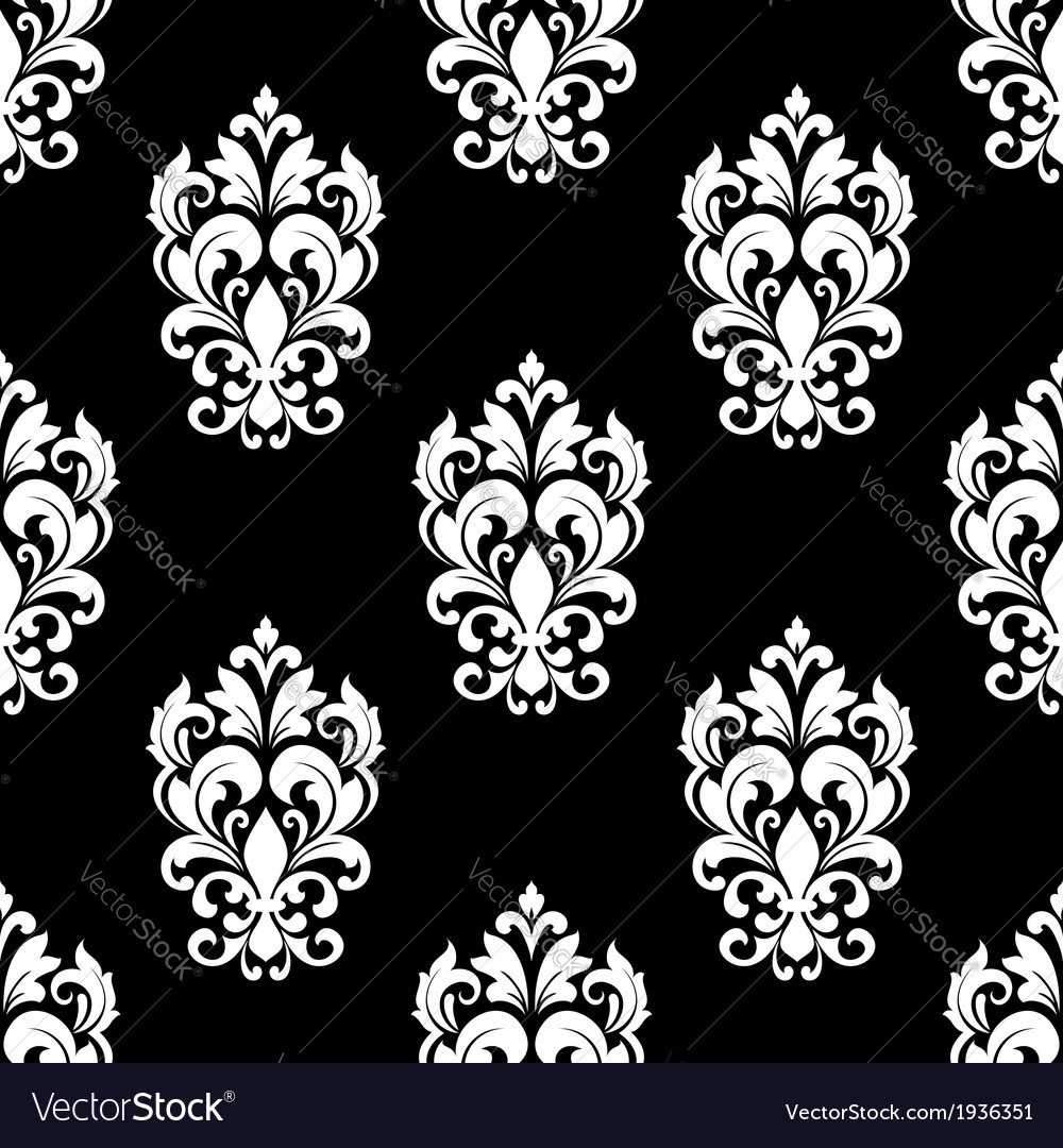 Seamless pattern with floral motifs vector | Price: 1 Credit (USD $1)