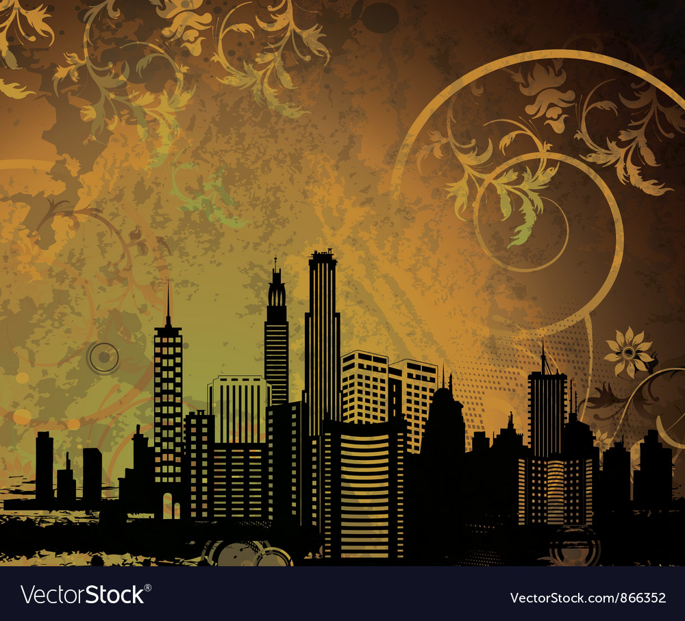 City with grunge vector | Price: 1 Credit (USD $1)