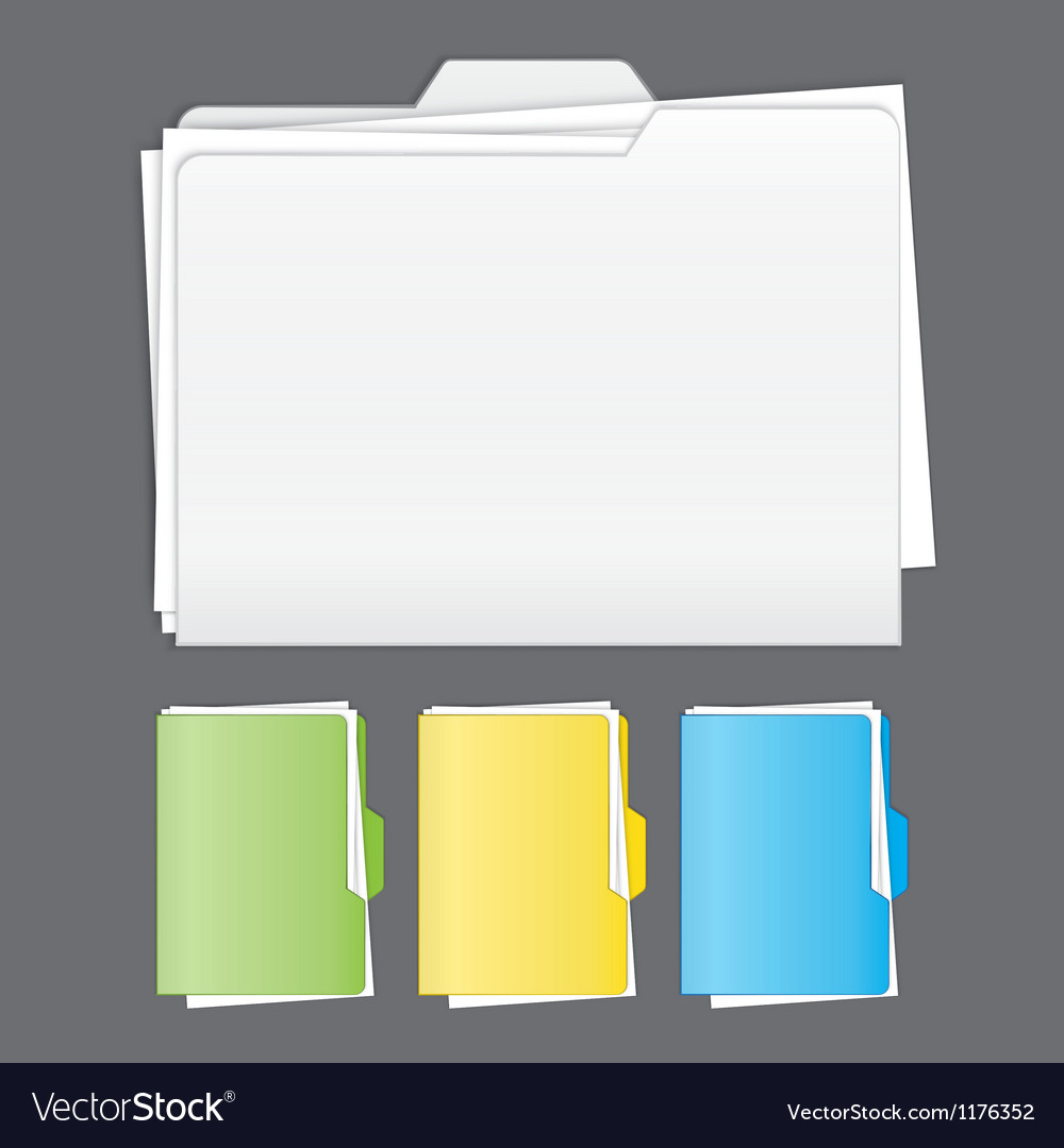 Colorful tabbed folder set vector | Price: 1 Credit (USD $1)