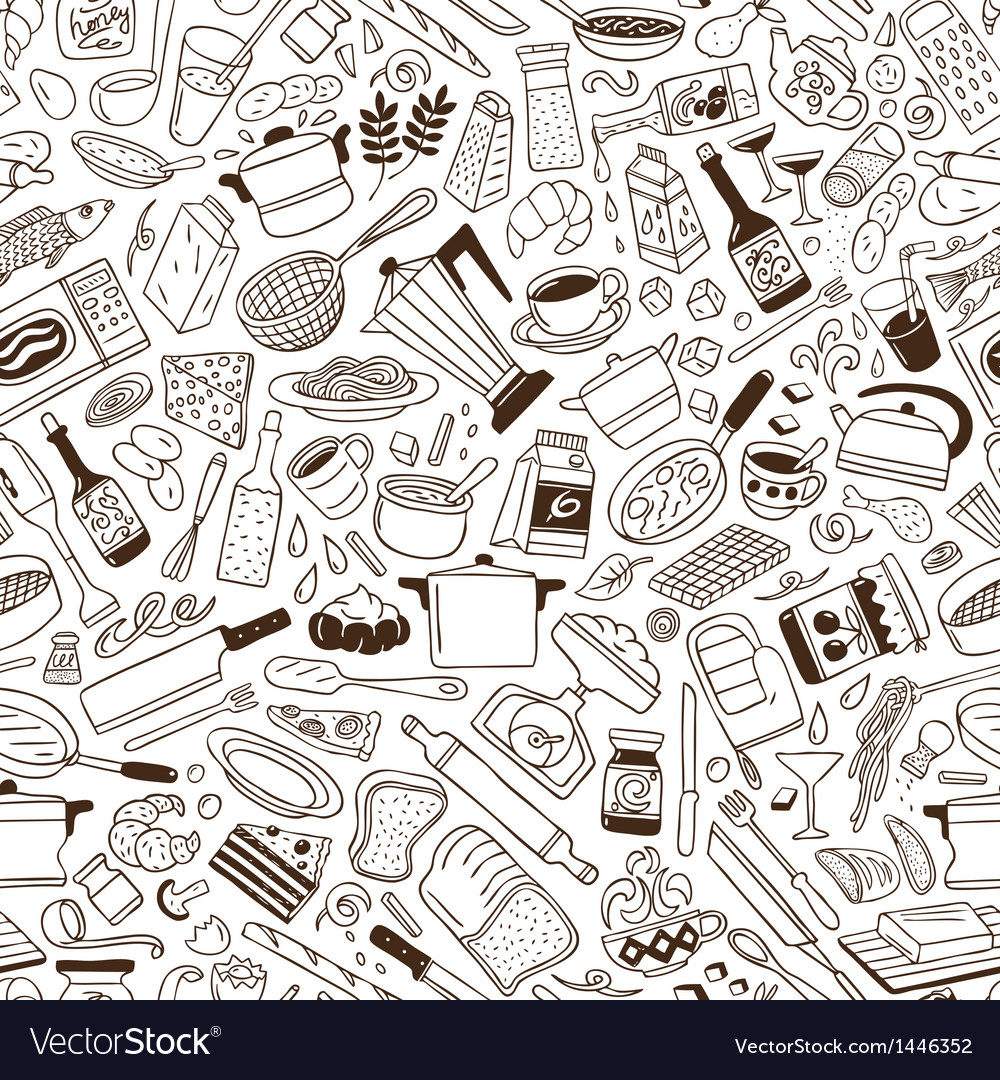 Cookery - seamless pattern vector | Price: 1 Credit (USD $1)