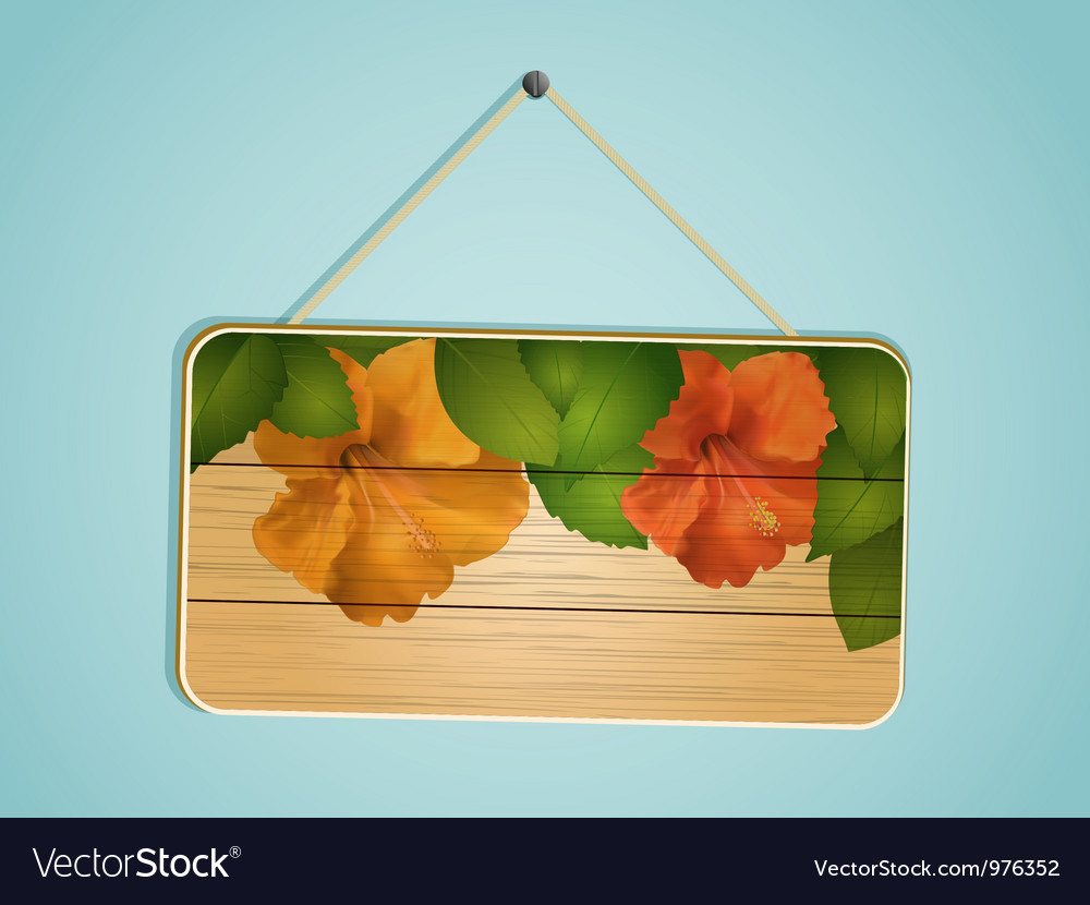 Floral wooden sign vector   Price: 1 Credit (USD $1)