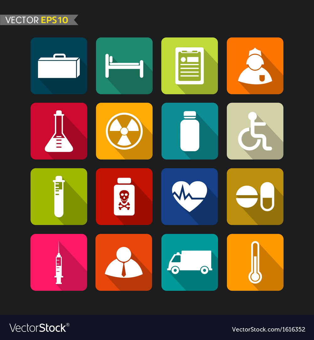 Hospital icons vector | Price: 1 Credit (USD $1)