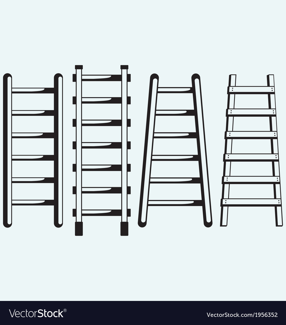 Ladder against the wall vector | Price: 1 Credit (USD $1)