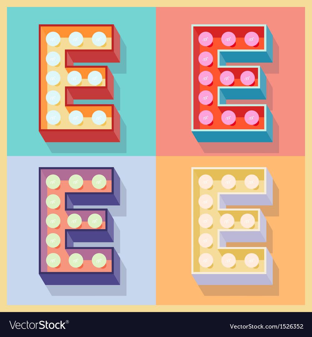 Letter e vector | Price: 1 Credit (USD $1)