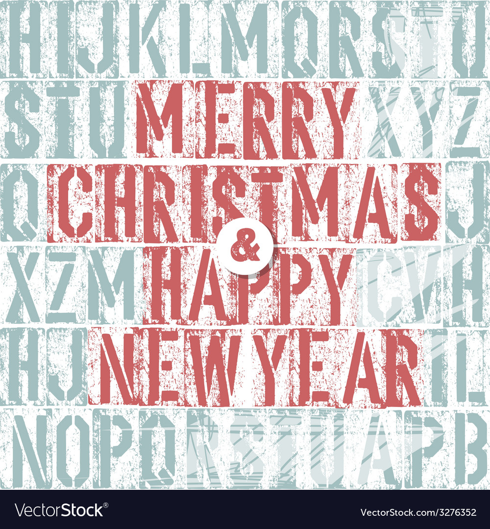 Merry christmas letterpress concept vector | Price: 1 Credit (USD $1)