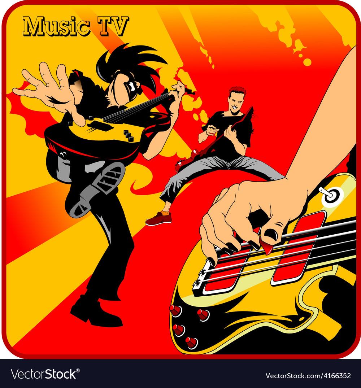 Music tv cartoon vector | Price: 1 Credit (USD $1)