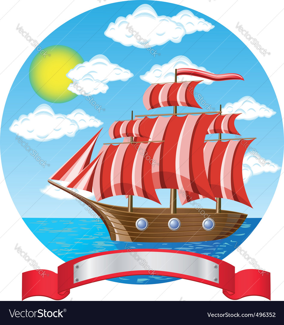 Old sailing ship vector | Price: 3 Credit (USD $3)
