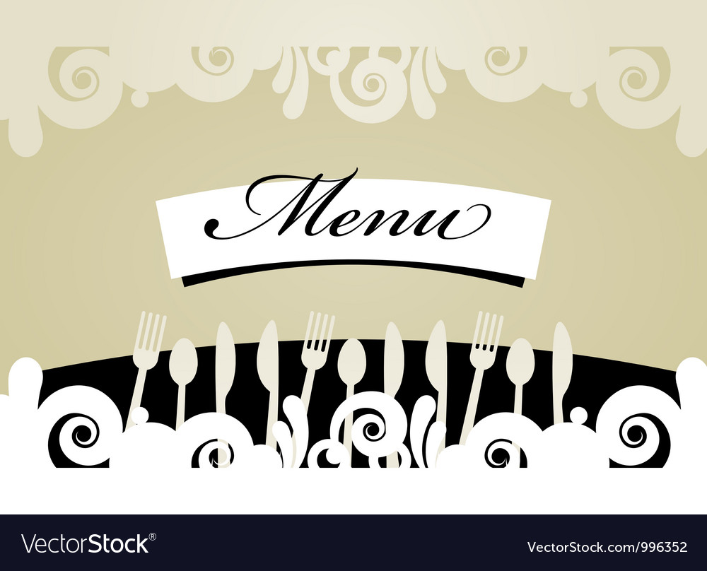 Restaurant menu card vector | Price: 1 Credit (USD $1)