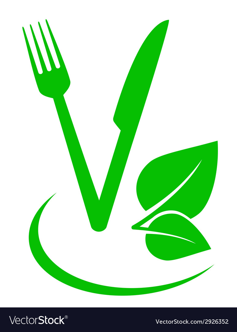 Vegetarian food sign vector | Price: 1 Credit (USD $1)