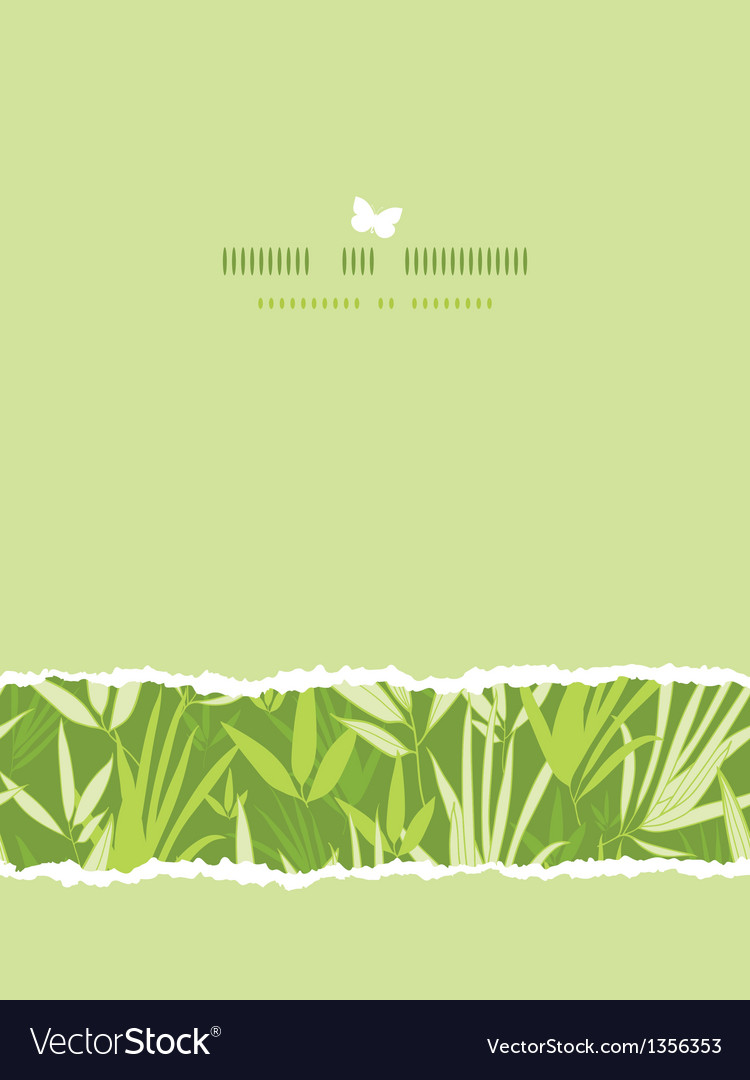 Bamboo branches horizontal card seamless pattern vector | Price: 1 Credit (USD $1)