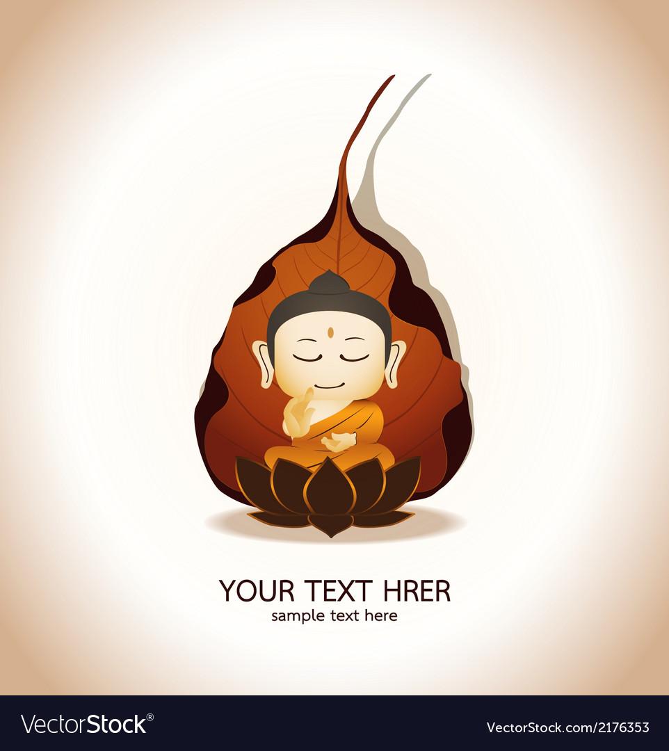 Buddha cartoon vector | Price: 1 Credit (USD $1)