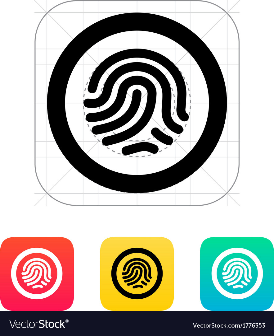 Fingerprint scanner icon vector | Price: 1 Credit (USD $1)