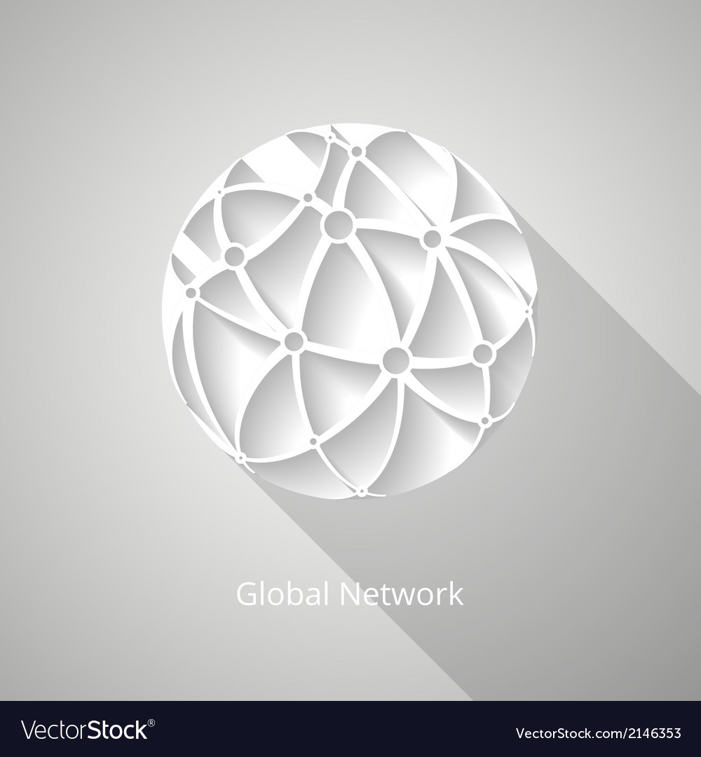 Global network icon vector | Price: 1 Credit (USD $1)