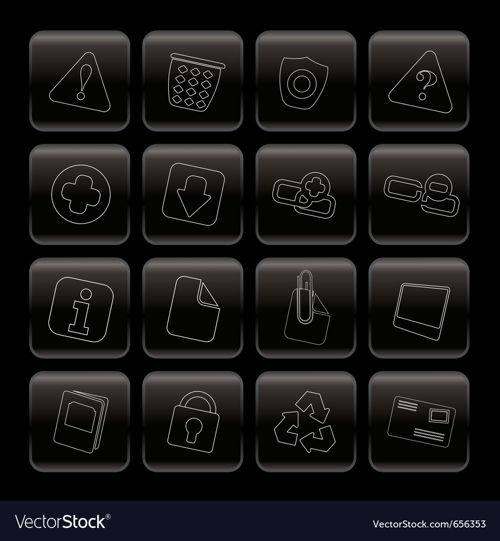 Line web site and computer icons vector | Price: 1 Credit (USD $1)