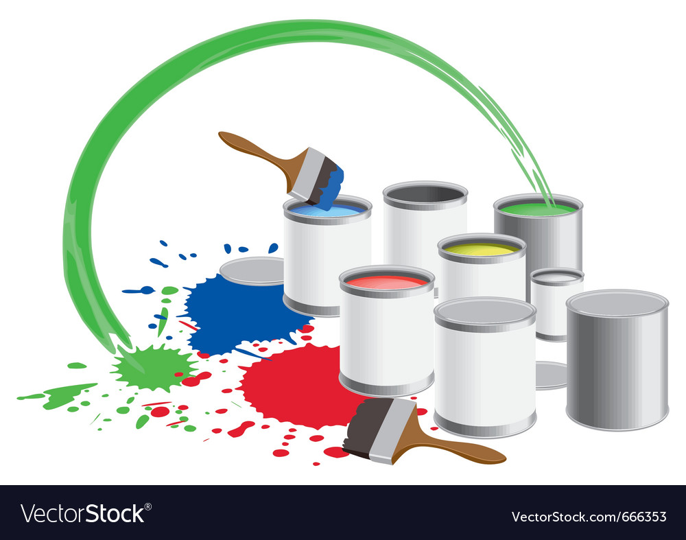 Paint pots vector | Price: 1 Credit (USD $1)