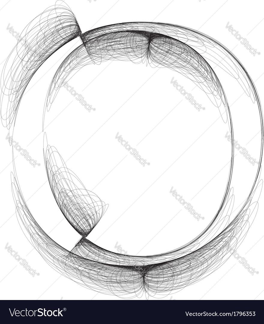 Sketch font letter o vector | Price: 1 Credit (USD $1)