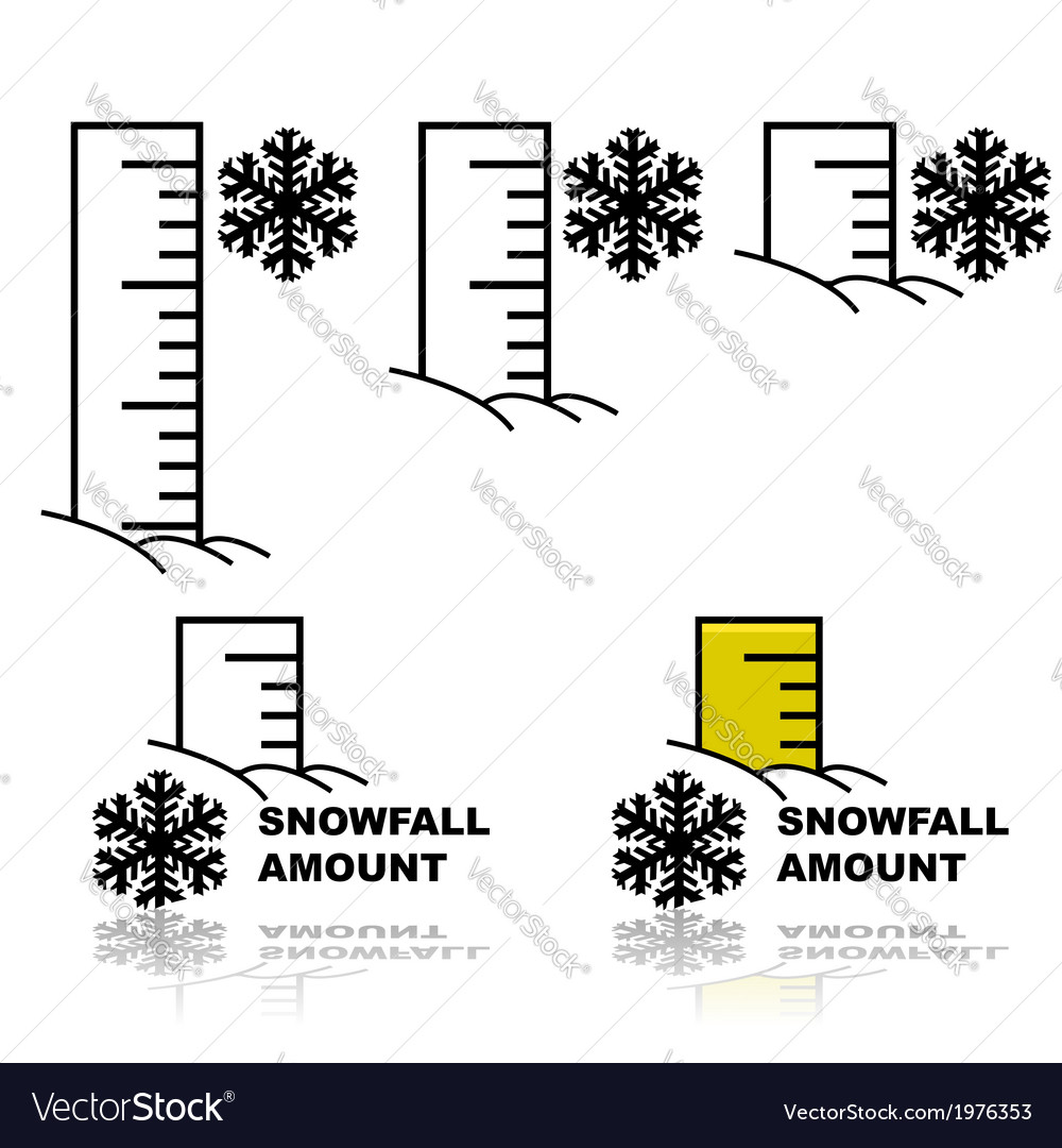 Snowfall amount vector | Price: 1 Credit (USD $1)