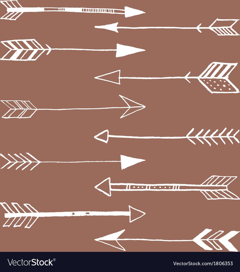 Tribal arrows doodle vector | Price: 1 Credit (USD $1)