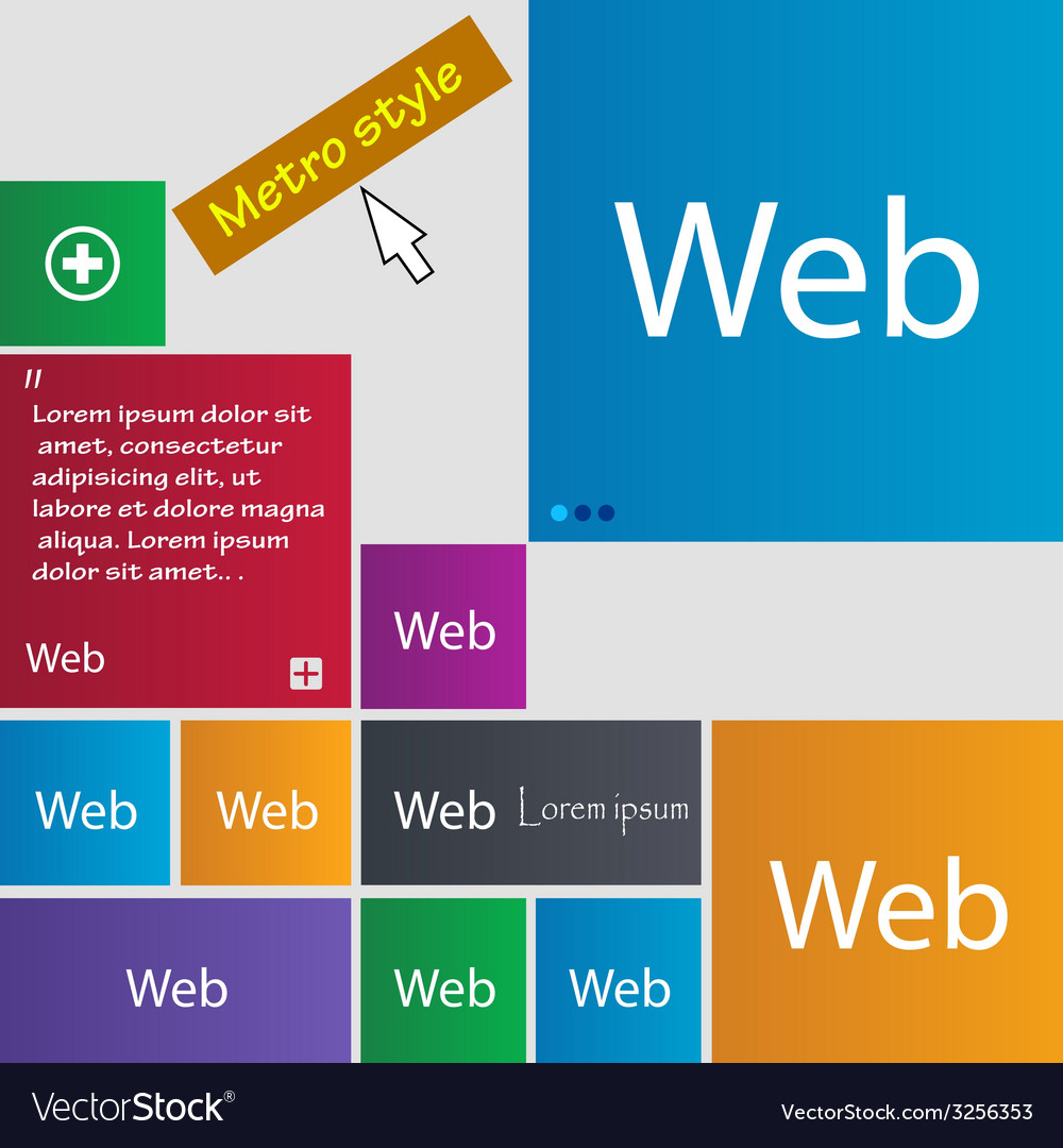 Web sign icon world wide web symbol set of colored vector | Price: 1 Credit (USD $1)