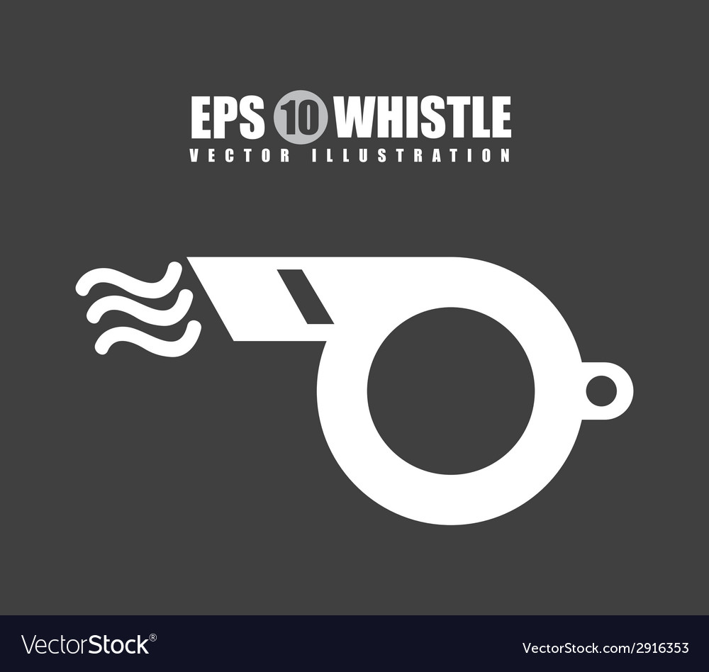 Whistle design vector | Price: 1 Credit (USD $1)