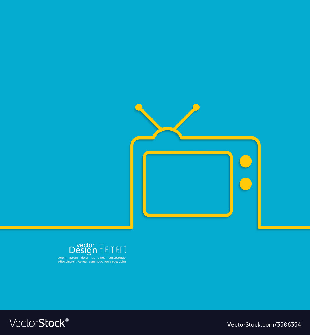 Abstract background with old tv vector | Price: 1 Credit (USD $1)