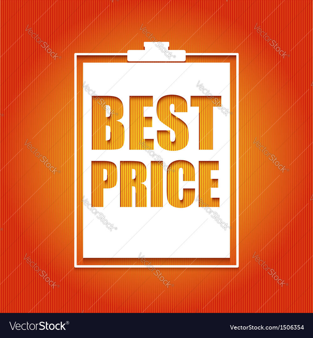 Best price poster vector | Price: 1 Credit (USD $1)