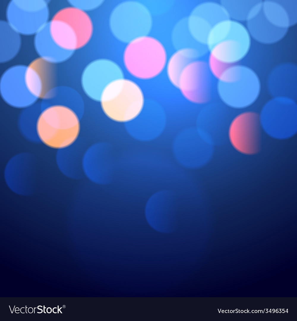 Blue bokeh lights vector | Price: 1 Credit (USD $1)