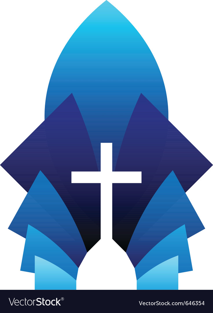Blue cross symbol vector | Price: 1 Credit (USD $1)