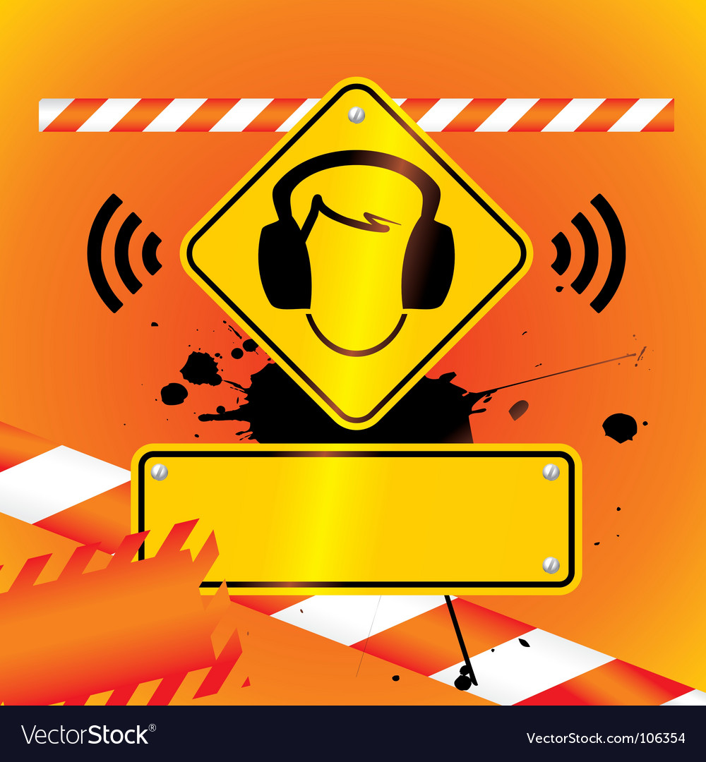 Caution music vector | Price: 1 Credit (USD $1)