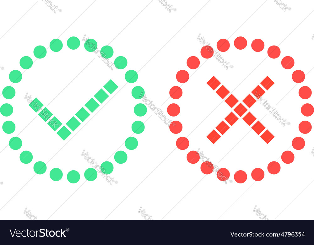 Check marks of simple shapes vector | Price: 1 Credit (USD $1)