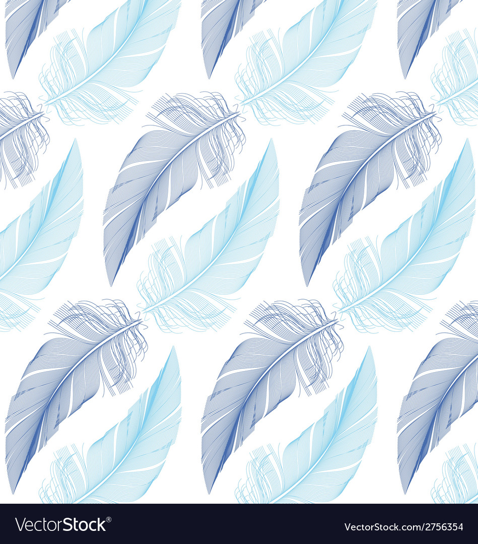 Feather seamless pattern vector | Price: 1 Credit (USD $1)