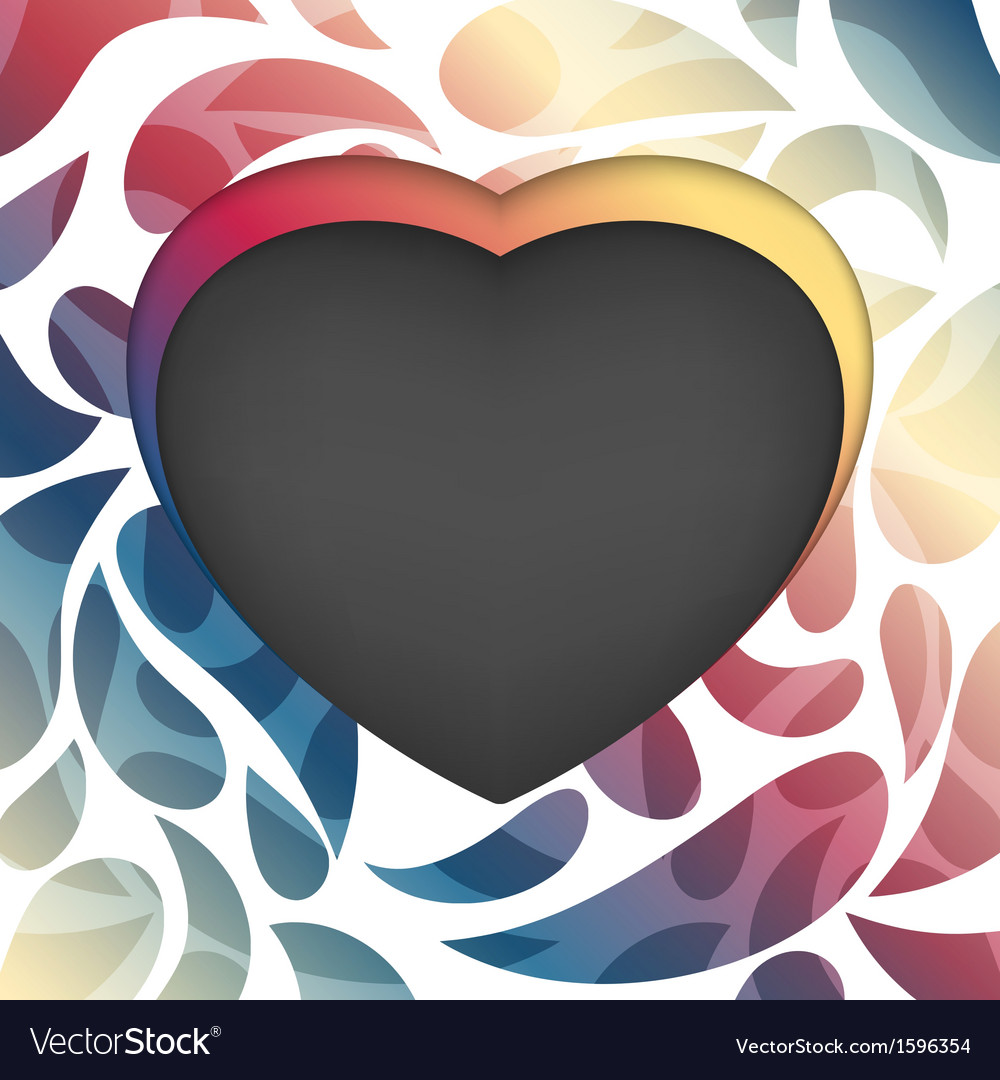 Heart frame multicolored abstract background vector | Price: 1 Credit (USD $1)