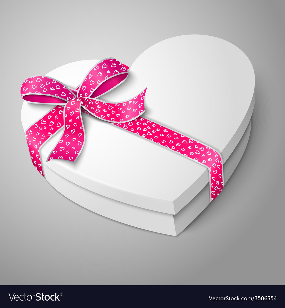 Realistic blank white heart shape box for your vector | Price: 1 Credit (USD $1)