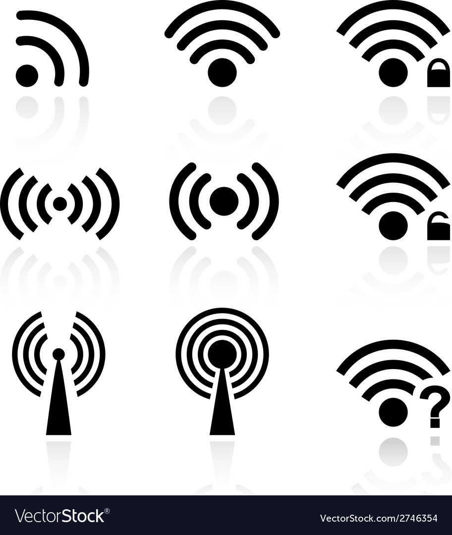 Wireless and wifi vector | Price: 1 Credit (USD $1)