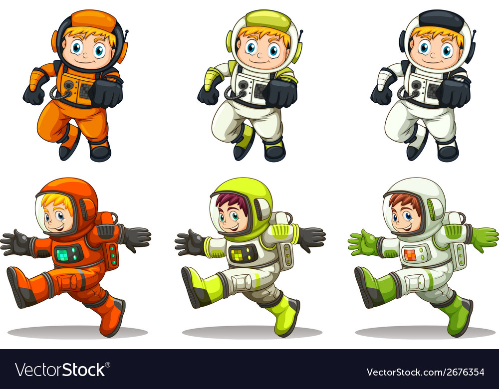 Young astronauts vector | Price: 3 Credit (USD $3)