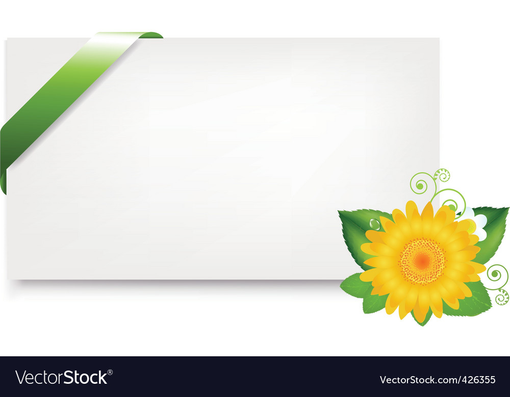 Blank gift tag with daisy vector | Price: 1 Credit (USD $1)