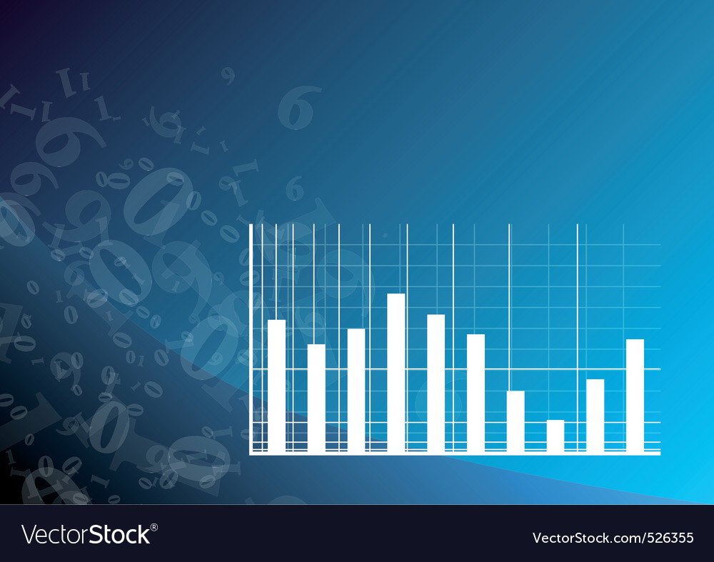 Blue graph vector | Price: 1 Credit (USD $1)
