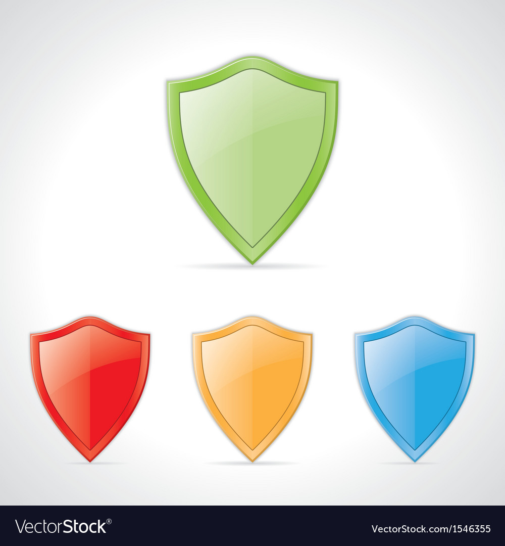 Colored shields vector | Price: 1 Credit (USD $1)