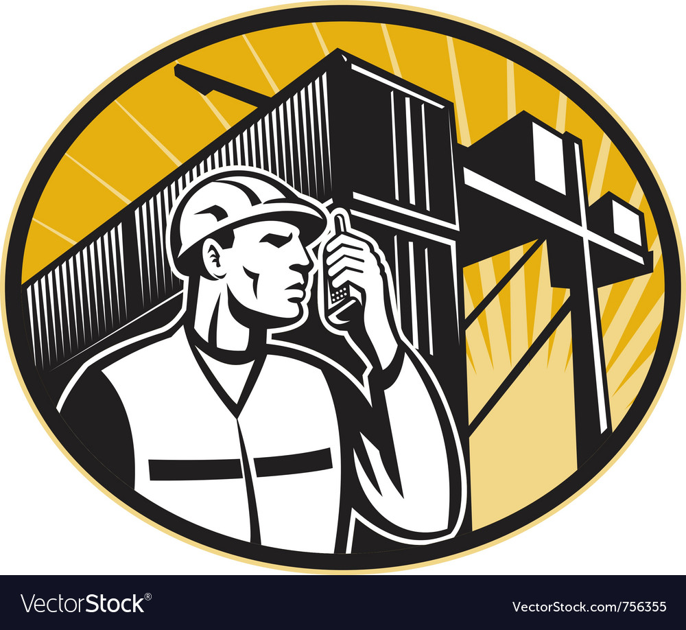 Dock worker vector | Price: 1 Credit (USD $1)